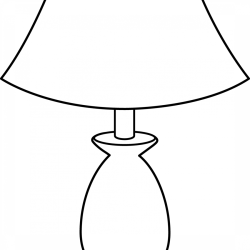 Lamp Png Black And White Clipart Full Size Clipart #1024457 PinClipart