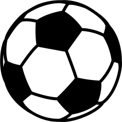 Black And White Football Clipart Soccer Ball Png Download Full Size Clipart #1331729 PinClipart