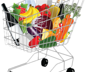 Basket Clipart Grocery Shopping Png Download Full Size Clipart #3098283 PinClipart