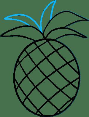 easy draw emoji pineapple fruit clipart drawing transparent tutorials pinclipart pngjoy