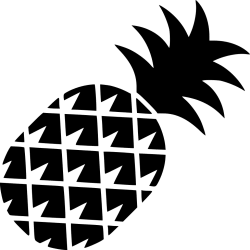 Pineapple Outline Png Transparent Background Abacaxi Preto Png Clipart Full Size Clipart #4226985 PinClipart