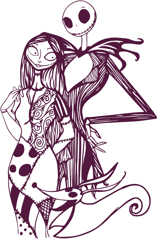 Easy Jack And Sally Drawings : sally, drawings, Download, Nightmare, Before, Christmas, Drawings, Clipart, (#5410049), PinClipart