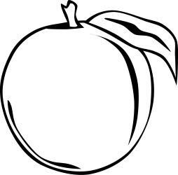 Orange Clipart Black And White Png Transparent Png Full