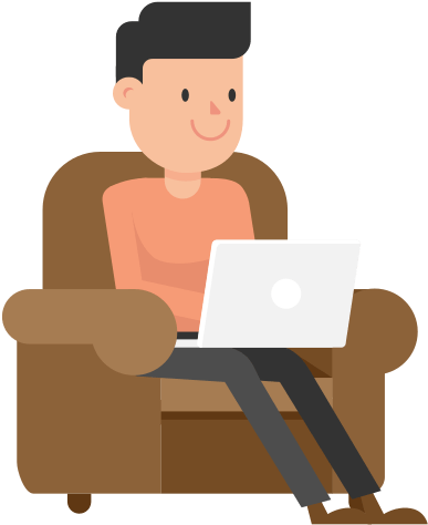 Laptop Png Vector : laptop, vector, Working, Laptop, Couch, Cartoon, Vector, Sitting, Clipart, (#795042), PinClipart