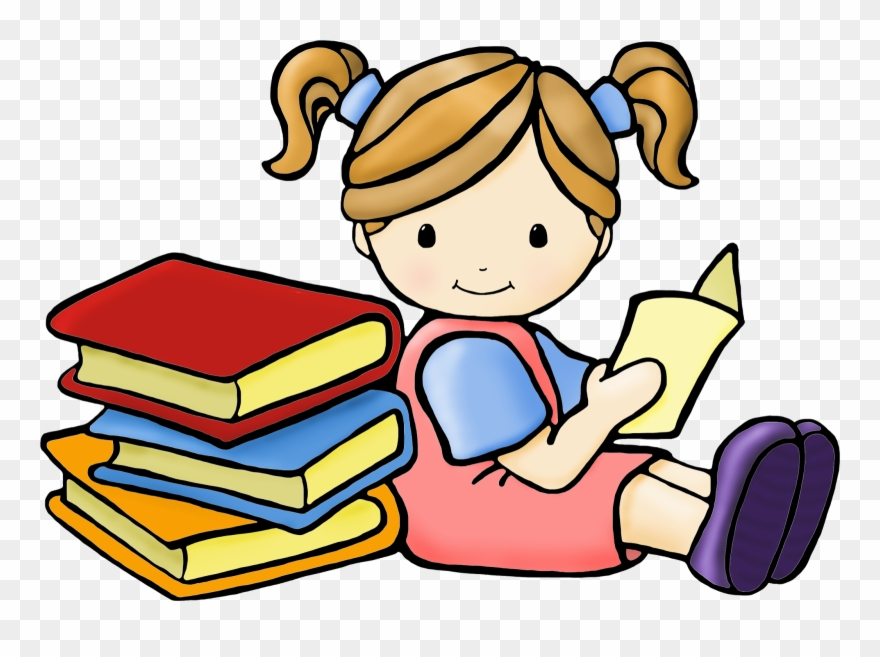 Shhh Clipart Girl Reading Book Clipart Free Download