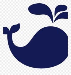 whale clip cute silhouette clipart pinclipart vector