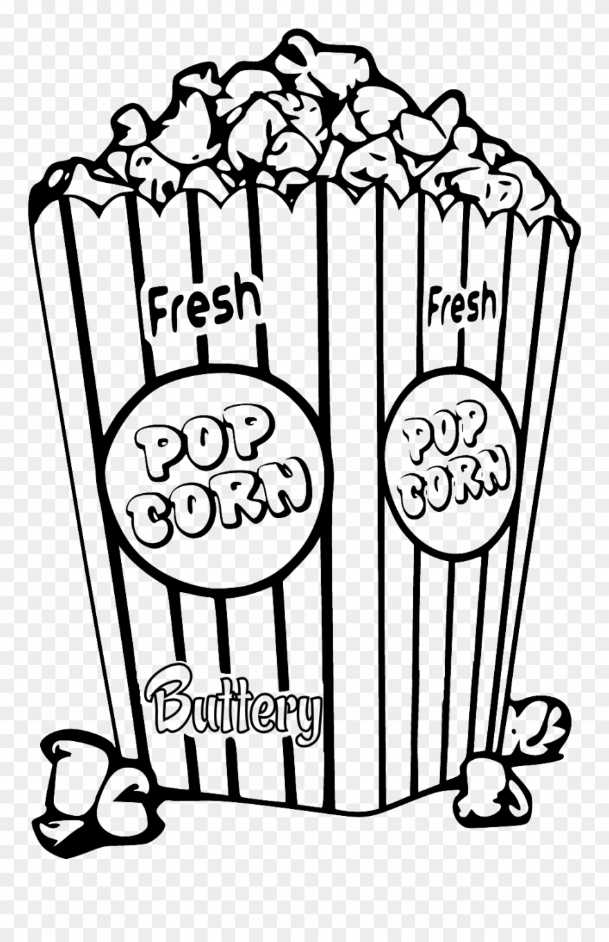 Popcorn Colouring Pages : popcorn, colouring, pages, Create, Popcorn, Coloring, Clipart, (#106130), PinClipart