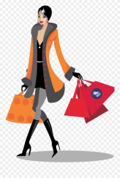 Shopping Png File Woman Shopping Vector Png Clipart #107014 PinClipart