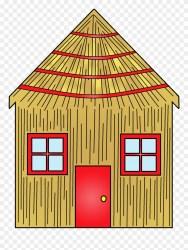 Cartoon House Made Of Sticks Rh Kitchendecor Club Casa De Paja De Los Tres Cerditos Clipart #1039638 PinClipart