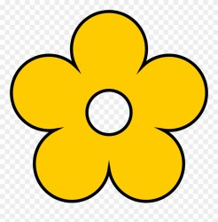 Yellow Flower Clipart Clip Art Yellow Flower Png Download #1079582 PinClipart
