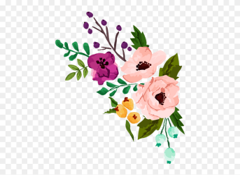 Floral Clipart Rustic Flower Flower Watercolor Vector Png Download #1084278 PinClipart