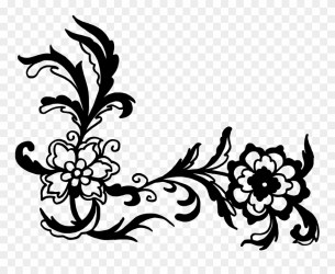 Free Download Black Vector Flower Png Clipart #1246187 PinClipart