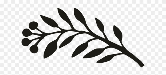 Greely Black And White Leaf Border Png Clipart #1403603 PinClipart
