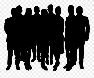 Crowd Png Group Of People Silhouette Png Clipart #1434390 PinClipart