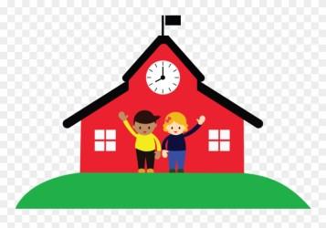 School House Background School Cartoon Transparent Background Clipart #1717023 PinClipart