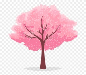 cherry tree blossom clipart cartoon pinclipart