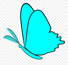 Simple Butterfly Clipart Transparent Background Png Download #24438 PinClipart