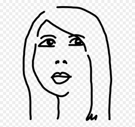 Black And White Woman Drawing Face Cartoon Chinese Girl Drawing Cartoon Clipart #27617 PinClipart