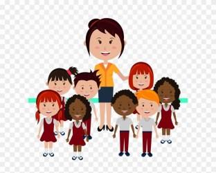 Children Student Png Transparent Image 老师 和 学生 卡通 Clipart #2135208 PinClipart