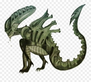 xenomorph clipart aliens alien drawing clip clipground draw middle