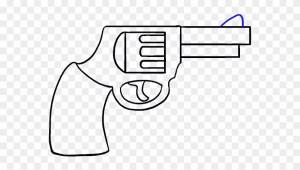 gun cartoon drawing easy draw clipart revolver pinclipart