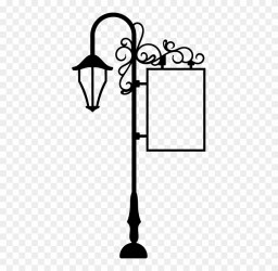 Street Light Black And White Clipart #2909249 PinClipart