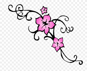 Cherry Blossom Flower Tattoo Outline 3 Cherry Blossoms Drawing Clipart #328092 PinClipart