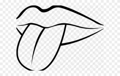 Drawn Tongue Clip Art Lip And Mouth Black And White Clipart Png Download #345844 PinClipart