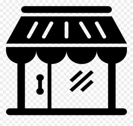 Shop Icon Clipart Computer Icons Shopping Retail Retailer Clipart Black And White Png Download #359493 PinClipart