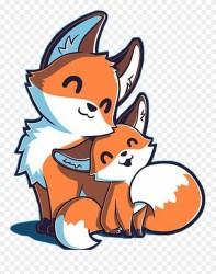 Fox Sticker Anime Chibi Cute Fox Clipart #3682429 PinClipart
