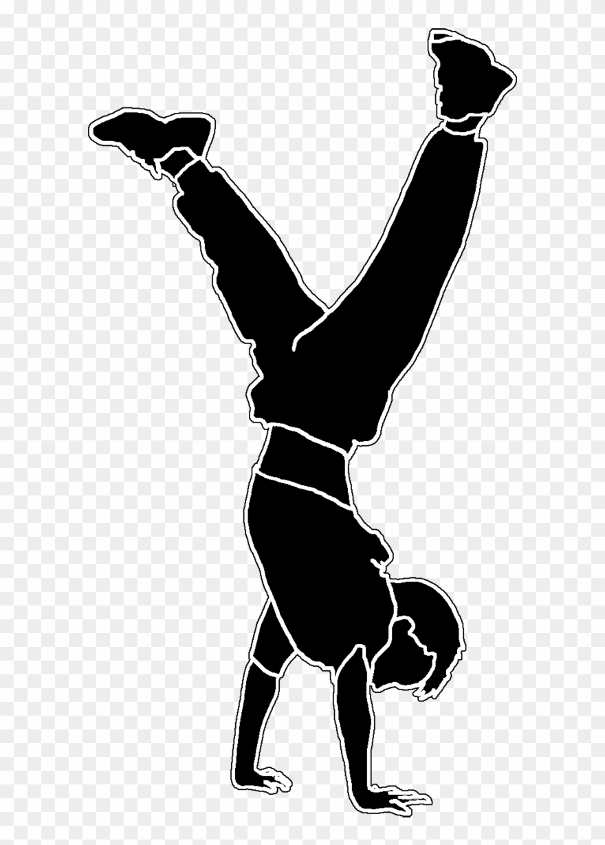 Gambar Hand Stand : gambar, stand, Doing, Handstand, Silhouette, White, Transparent, Background, Clipart, (#382629), PinClipart