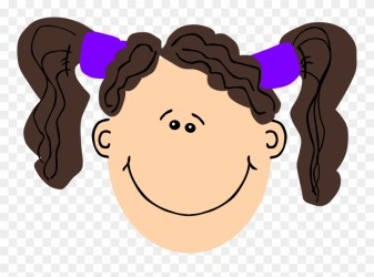 Clipart Brown Hair Girl Clip Art Face Png Download #40489 PinClipart