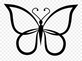 Butterfly Shape Outline Top View Comments Butterfly Outline Shapes Clipart #4060438 PinClipart