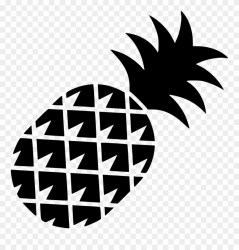 Pineapple Outline Png Transparent Background Abacaxi Preto Png Clipart #4226985 PinClipart