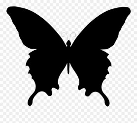 Butterfly Clipart Black And White Silhouette Butterfly Vector Png Transparent Png #4857485 PinClipart