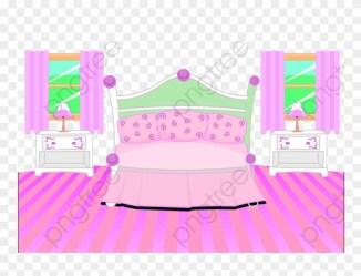 Indoor Scene Pink Floor Bedroom Bedroom Clipart Pink 女生 房間 卡通 Png Download #4881988 PinClipart
