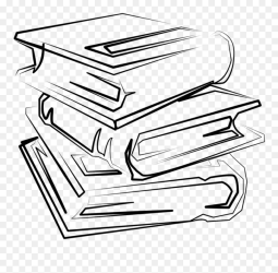 Cartoon Stack Of Books Transparent Background Stack Of Books Clipart Black Png Download #5238810 PinClipart