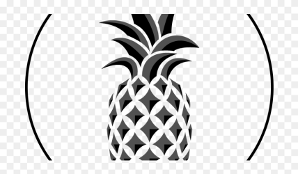 Transparent Black And White Pineapple Png Outline Pineapple Clipart #5263090 PinClipart