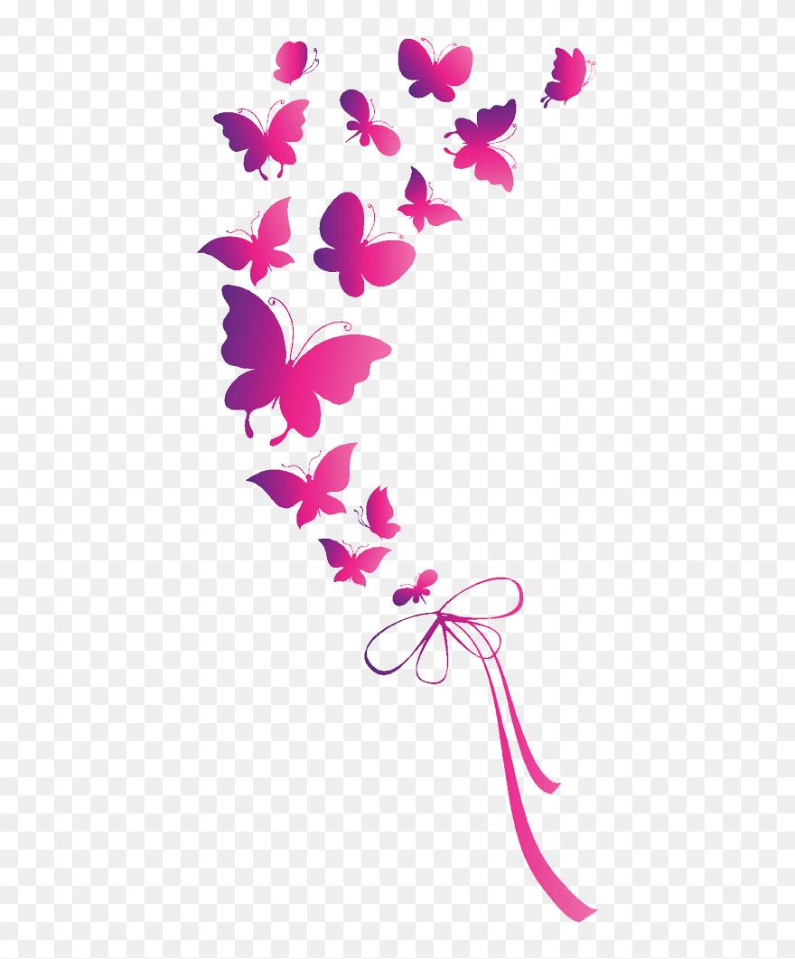 Pink Butterfly Png : butterfly, Butterfly, Euclidean, Vector, Transparent, (#5266493), PinClipart