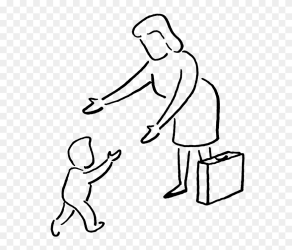 Walk To School Clipart Black And White Svg Black And Baby Walking Drawing Easy Png Download #5269024 PinClipart