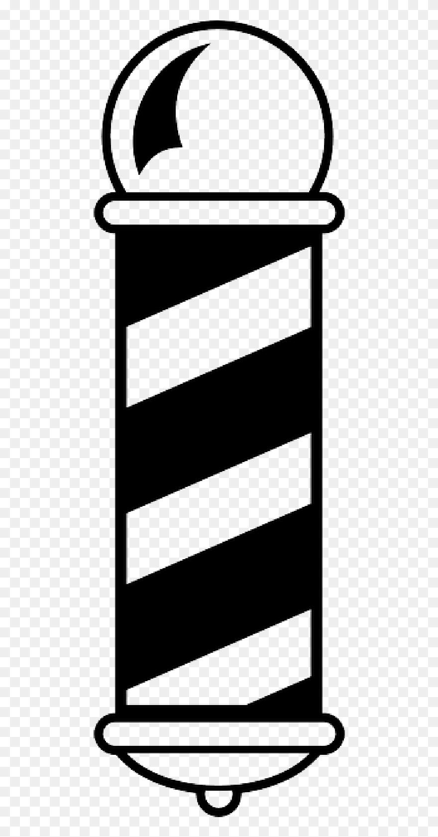 Lampu Barbershop Png : lampu, barbershop, Black,, Silhouette,, White,, Cartoon,, Logos,, Barber, Vector, Clipart, (#5307399), PinClipart