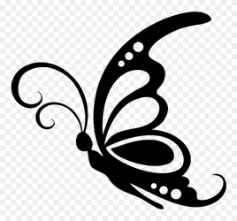 Butterfly Silhouette Stencil Clip Art Black And White Silhouette Butterfly Clipart Png Download #5316917 PinClipart
