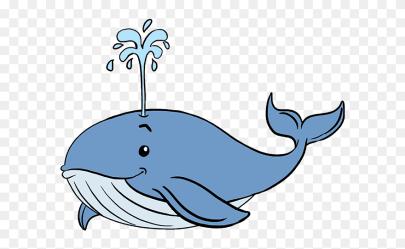 Cartoon Simple Blue Whale
