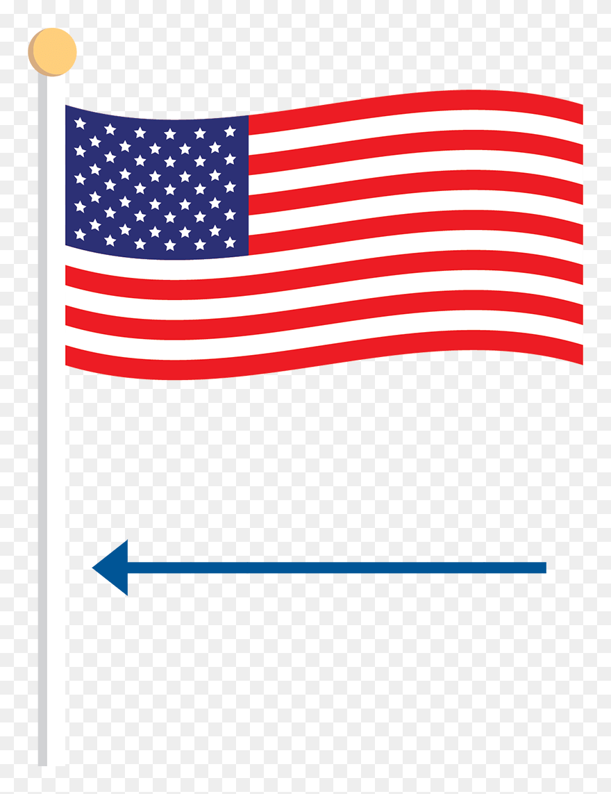 American Flag Clipart Png : american, clipart, Transparent, Waving, (#5427407), PinClipart