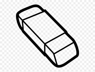 Rubber Eraser Clip Art Black And White Eraser Clipart Black And White Png Download #5519164 PinClipart