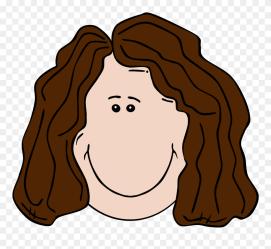 Cartoon Girl Brown Hair Clipart #5617631 PinClipart