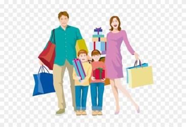 Shopping Bag Family Clip Shopping Cartoon Family Png Transparent Png #596871 PinClipart