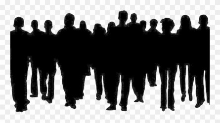 Crowd Of People Clipart Clip Art Crowds Of People Silhouette Png Download #74287 PinClipart