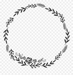Silhouette Leaf Circle Border Png Logotipo