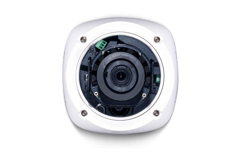 Avigilon H5A dome camera with IR illuminators (front view)